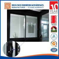 AS2047 Double Glazing Aluminum Sliding Window With INTERPON Black Color Manufactures