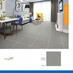 China Anti Slip Full Body Rustic Ceramic Floor Tiles  60x60cm Grey Color on sale