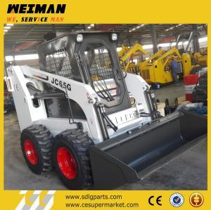 China wheel skid steer loader, skid steer loader with Japan engine, JC65G skid loader Manufactures