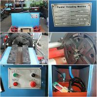 High Efficiency Rebar Coupler Machine , 3 Phase Chaser Portable Rebar Threading Machine Manufactures