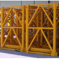 OEM Yellow Painted Anti - Corrosion Steel Hoist Tower Crane Mast 2.4 x 2.4 x 5 m Manufactures