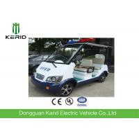 Classic 4 Seater Electric Sightseeing Car With Top Alarm Lamp For Security Patrol Manufactures