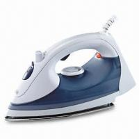 Electric Steam Iron with Stainless Steel/Ceramic-coated Plate, Temperature Pilot Light Manufactures