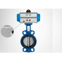 Wafer Type Pneumatic Operated Valve Lightweight Energy Saving Compact Design Manufactures