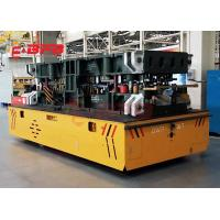 Auto Precast Concrete Floor Industrial Trolley Cart , 1-500 Tons Turning Battery trackless Transfer Trolley Manufactures