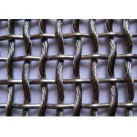 China Architectual Decorative Metal Mesh Fence Panels  , Stainless Steel Woven Wire Mesh on sale