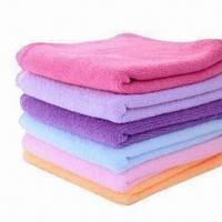 China Microfiber Solid House/Kitchen Cleaning Towels, Available in Various Sizes on sale