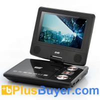 7 Inch Swivel Screen Portable DVD Player with Media Copy Function Manufactures