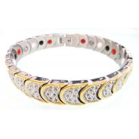 Mens Stainless Steel Magnetic Bracelets With 4 IN 1 BIO Energy Germanium Elements Manufactures