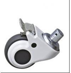 Steel Bracket Cart Castor Wheels , Trolley Castors Or Casters Wheels With Brake Manufactures