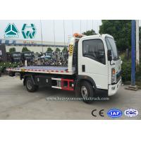 China Right Hand Drive Howo 4 x 2 Wrecker Tow Trucks For Car Transporter on sale