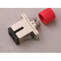 Flange type high compatibility FC - SC Hybird fiber optics adapter with metal housing Manufactures