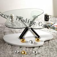 Irregular Shape Tempered Glass Table Top / Glass Dining Room Sets Manufactures