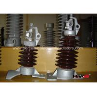 15kV - 25KV Brown Color Line Post Insulator With Clamp Top And Long Bolt Manufactures