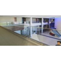 U base channel glass railing with laminated glass aluminum channel for veranda Manufactures
