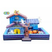 China Halloween Haunted House Inflatable Bounce House Combo With Blower Maintenance Kit on sale