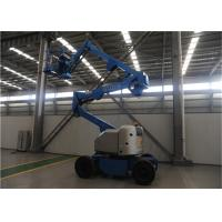 Self Propelled Articulating Boom Man Lift , Electric Man Lift 2.2KW Power Compact Structure Manufactures
