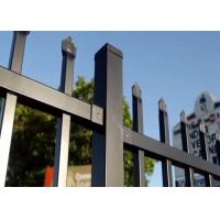 China Industries Garrison Security Fencing 2.1mx2.4m rails 40mmx40mm*1.60mm on sale