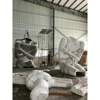 Stainless Steel Famous Abstract Sculptures / Body Cast Sculpture For Outdoor Decor Manufactures