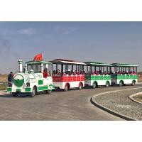 72 Passengers Tourist Train Rides Shopping Mall Train Fiberglass Material Manufactures