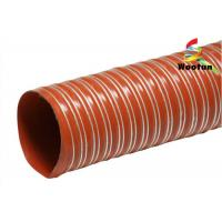 Iron Oxide Red Silicone Coated Fiberglass Fabric High Temperature Flexible Duct Manufactures