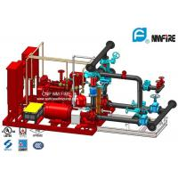 Red 250GPM Skid Mounted Fire Pump Package With Electric / Diesel Engine Manufactures