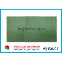 All Natural Non Woven Cleaning Wipes 80% Polyester 24 Count  16 x 16 For Toilet Manufactures