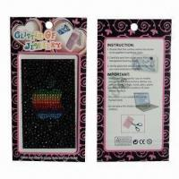 Stickers for Mobile Phones, Nontoxic, Customized Artworks are Accepted Manufactures