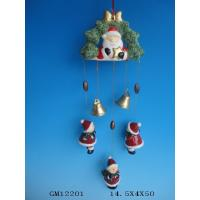 China Hanging Ceramic Christmas Gift Wind Bell , Handmade Wind Chimes For Your Home on sale