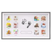 Horizontial Baby First 12 Months Photo Frame Ink Handprint Photo Frame For Boys Manufactures