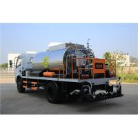 HOWO 4000L Asphalt Construction Equipment Covered With Stainless Steel Sheets Manufactures