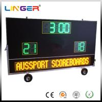 Electronic Waterproof Outdoor Soccer Scoreboard With Message Sign / Moving Stand Manufactures