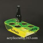 PMMA wine holder / plexiglass wine bottle display rack / acrylic beer bottle tray Manufactures