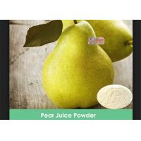 100% Water Suluble Pear Juice Powder No Artificial Colors / Preservatives Manufactures