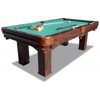 China 7.5 Feet Pool Game Table Durable Taclon Cloth Surface With Real Leather Pocket wholesale