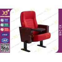 Powder Coating Finish Legs Auditorium Theater Seating Furniture With Tablet Manufactures