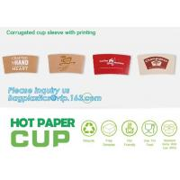 Biodegradable cup sleeve, Corrugated up sleeve with printing, brand logo, hot paper cup,cup sleeve, recyclable sleeve pa Manufactures