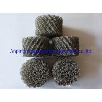 Irregular Hole Stainless Steel Knitted Wire Mesh Heat Shield Isolators / Vibration Dampeners Manufactures