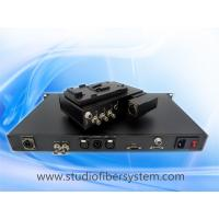 Studio camera to fiber system with OpticalCon Duo Interface powered by hybird cable Manufactures