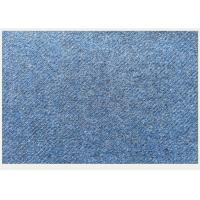 Mix Blue Tweed Medium Weight Wool Fabric Wind Resistant For Warmest Winter Jacket Manufactures
