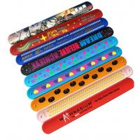 Bulk Silicone Rubber Bracelets Logo Printable Debossed Silk Printing Manufactures