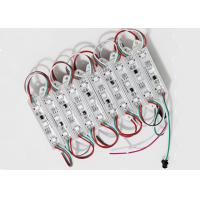 Plastic Cover  SMD5050 RGB  LED 3 Modules Waterproof 0.72 W For Full Color Perforated Channel Letters Manufactures