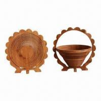 Bamboo Fruit Basket, Eco-friendly/Practical/Mothproof/Moisture Proof, Customized Designs Welcomed Manufactures