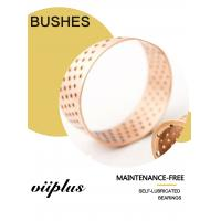 CuSn8 Oil Shaft Diameter Wrapped Bronze Sleeve Bushings Lubrication Pockets Manufactures
