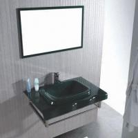 Bathroom Vanity with Glass Basin, Measures 800 x 520mm Manufactures
