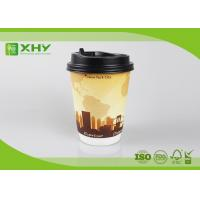 China 12oz 400ml FDA Certificated Eco-friendly Double Wall Paper Cups with Lids on sale