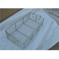 Rugged Stainless Steel Wire Mesh Basket With Moved Handle For Fruit Manufactures