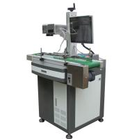 China Laser Engraving Machine For Aluminum Tags , Fiber Laser Marker 0.15mm Minimum Character on sale