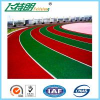 Durable Outdoor Sports Flooring All Weather Running Track Self - Knot Pattern Manufactures