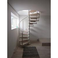 Spiral Staircase Stainless Steel Balustrade Woonden Treads Stairs Manufactures